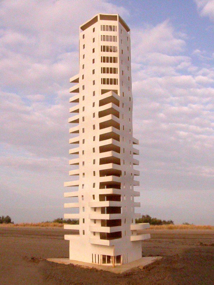 MAQUETA 3D: Torre de ApartamentosdeCullera (1/5)