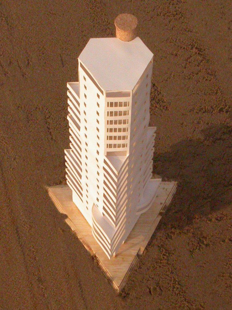 MAQUETA 3D: Torre de ApartamentosdeCullera (5/5)