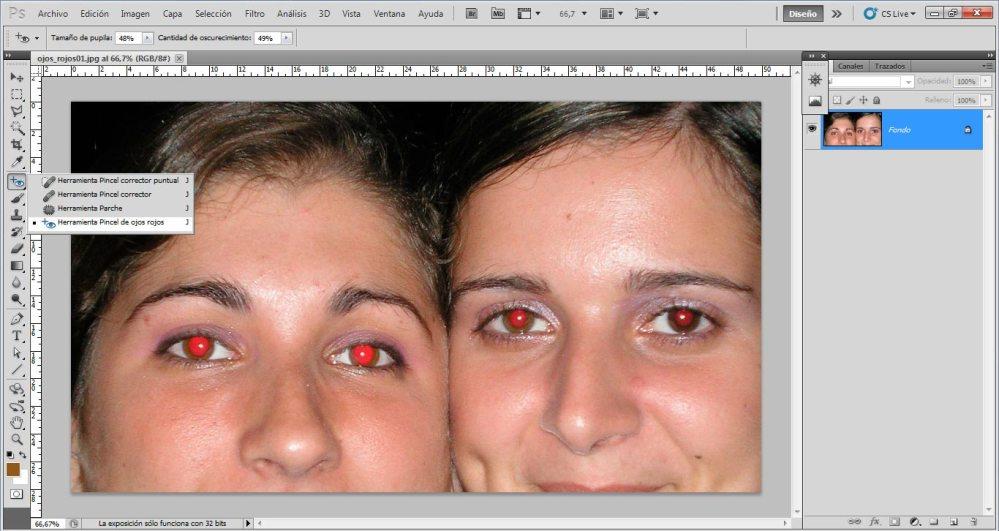 Tutorial: Eliminación de ojos rojos (3/5)