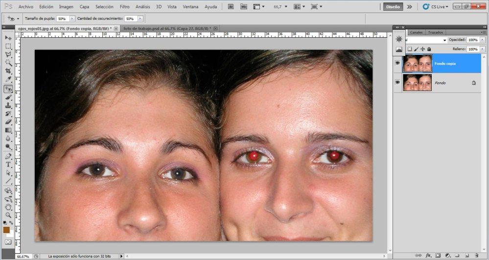 Tutorial: Eliminación de ojos rojos (4/5)