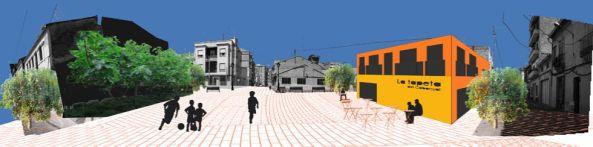 Imagen de una calle después de la realización del proyecto.
